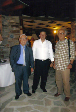 Ο Δήμαρχος Χρήστος Βλαχογιάννης με τους Νίκο Αλιπράντη και Χρίστο Γεωργούση