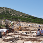An archaeological park in the Cyclades