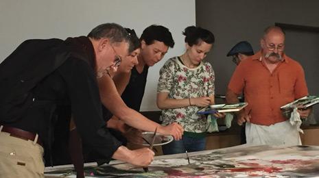 Peintres en action