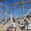 Préparatifs pour les fouilles et la restauration du sanctuaire d' Apollon