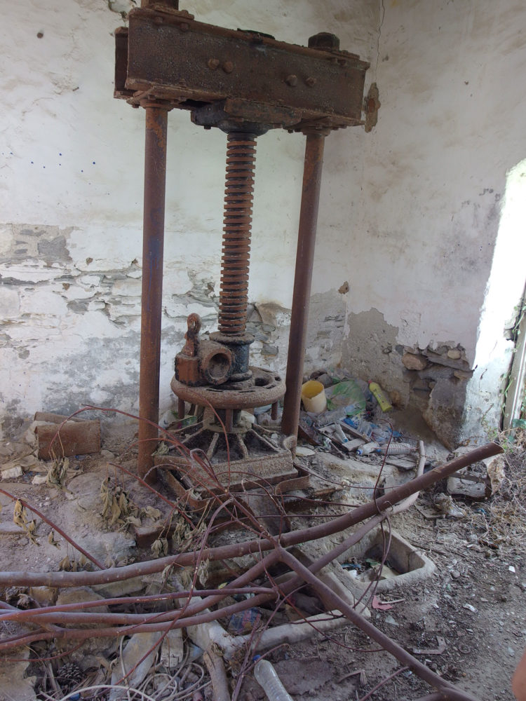 Abandoned olive oil press in Parikia