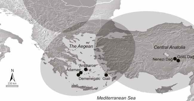 La Mer Egée et les Cyclades à travers les siècles