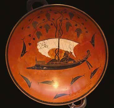 Dionysos dans un gobelet d'Exixia